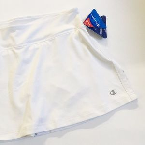 CHAMPION NWT White Double-dry Tennis Golf Skirt S